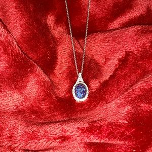 Sapphire & Diamond Necklace, Earrings & Ring